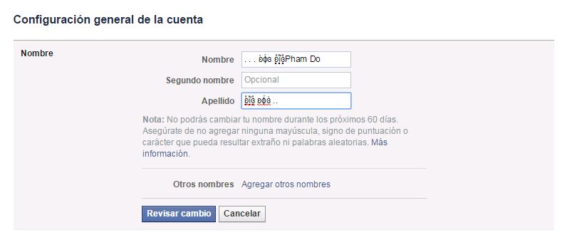 cách đổi tên kí tự đặc biệt facebook mới nhất 2