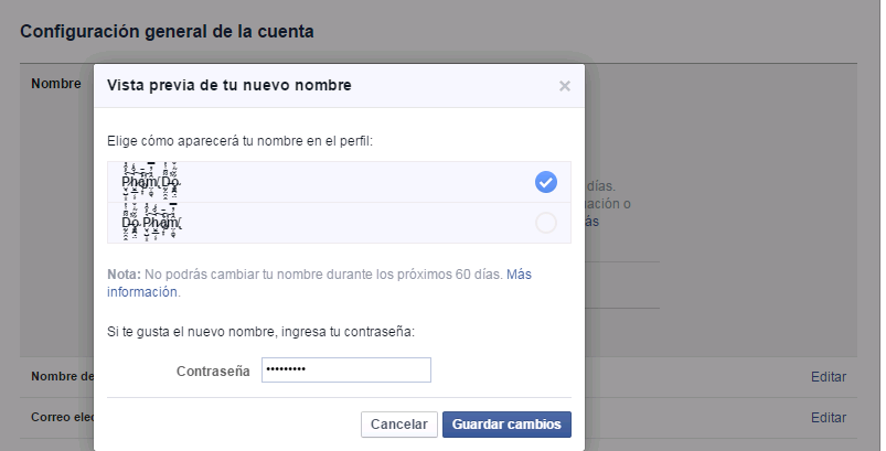 cách đổi tên kí tự đặc biệt facebook mới nhất 6