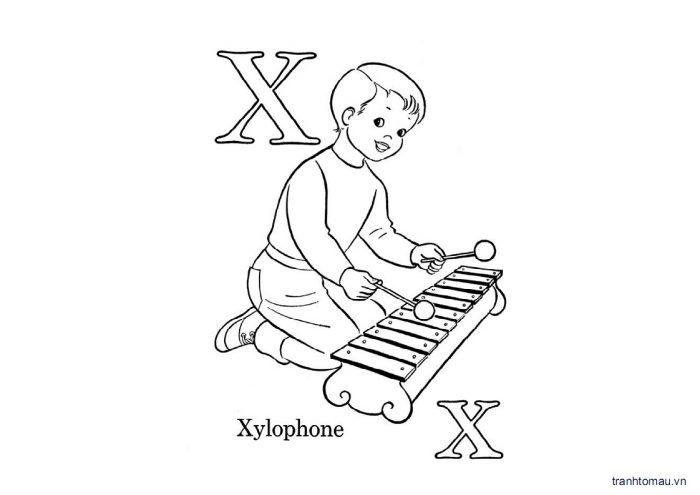 Tranh tô màu chữ cái tiếng việt cho bé phần 3