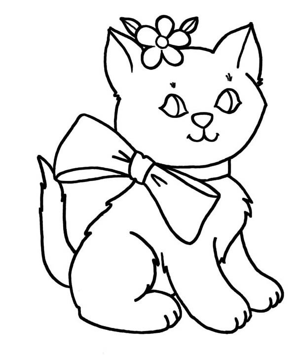 Tranh Tô Màu Con Mèo Dễ Thương Cho Các Bé Thoải Mái Sáng Tạo