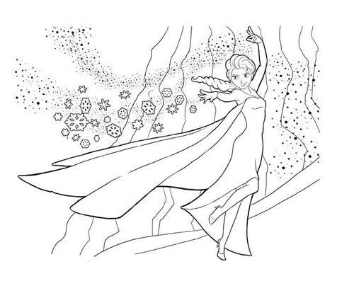 1. Tranh tô màu công chúa Elsa & Anna đẹp nhất cho bé