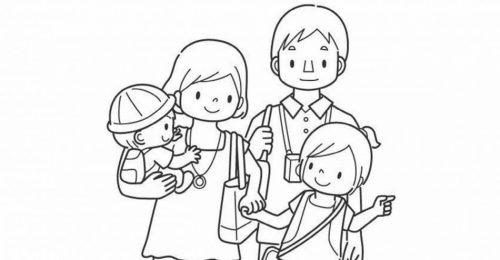 [Chọn lọc] 999+ tranh tô màu gia đình sinh động, ý nghĩa cho trẻ
