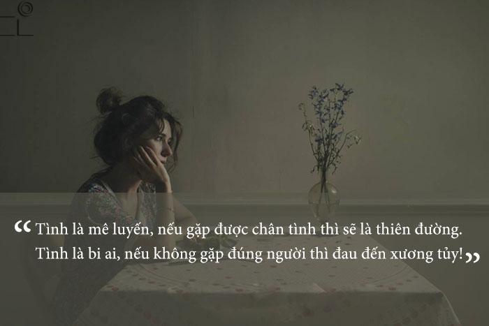 Stt ngôn tình buồn đáng suy ngẫm về tình yêu