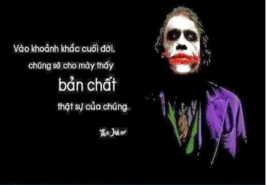 Những câu nói bất hủ của joker, đáng suy ngẫm