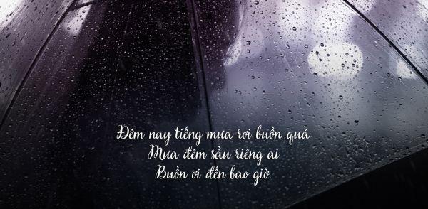 [Sâu lắng] 99 Stt về mưa lạnh đầy ắp tâm trạng, tái tê lòng người